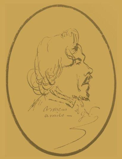 Eugène DELACROIX (1898-1863) George Sand habillée en homme, novembre 1834 Huile sur...