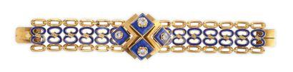 IMPORTANT BRACELET en or jaune, le bracelet...
