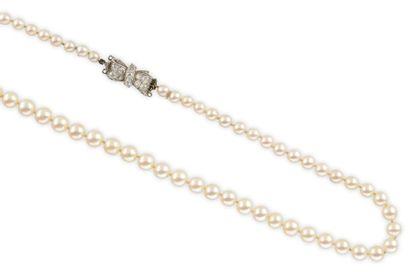 SAUTOIR composé d'une succession de perles...