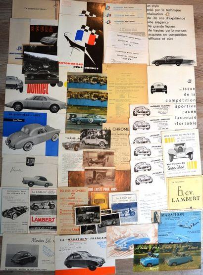 Petites marques sportives françaises : René Bonnet, Brissonneau, Callista, Dagonet,...