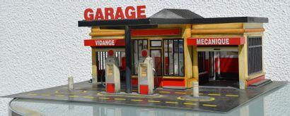 """"""" Maquette de Garage""""Maquette de garage des années 60, pompes à essence antérieures,..."""