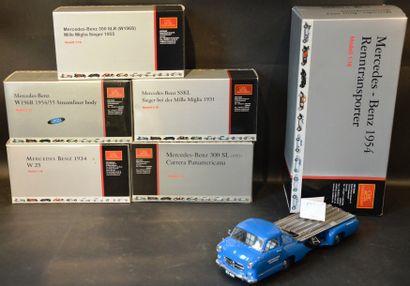 6 Miniatures CMC Mercedes-Benz au 1/18 et...