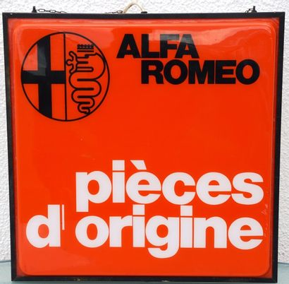 « ALFA ROMEO »  Enseigne carrée éclairante...