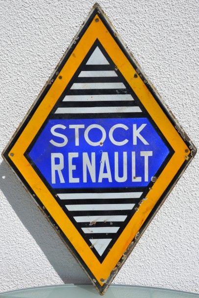 « Stock RENAULT »  Plaque émaillée double...