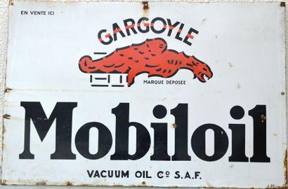 « MOBILOIL »  Plaque émaillée, promotionnelle...