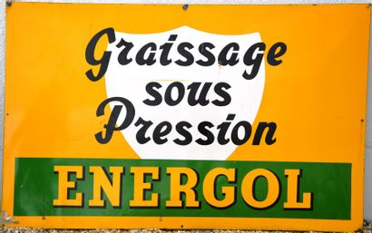 « ENERGOL »  Plaque émaillée de grande taille,...