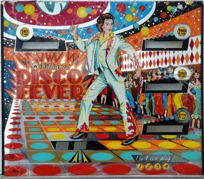 «Disco Fever »  Glace originale du flipper « Disco Fever » de marque Williams electronics,...