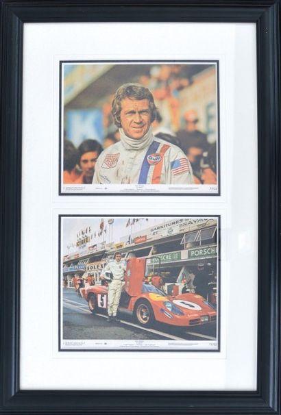« Deux photos - Le Mans, Steve Mc Queen »...