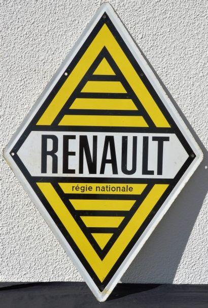 « Plaque Renault »  Plaque émaillée double...