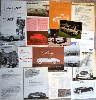 Sportives Américaines des années 50/60: Shelby,...