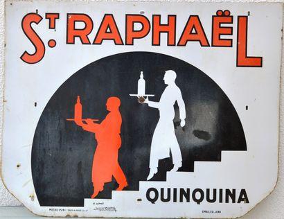 « Apéritif Saint - RAPHAEL »  Plaque émaillée...