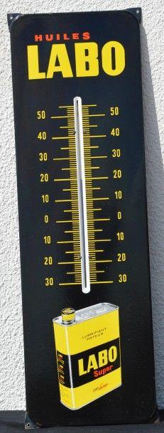 « Labo »  Thermomètre sur plaque émaillée...