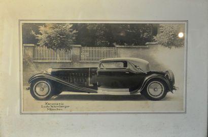 """""""Bugatti Royale, carrosserie Weinberger à Munich"""" Photo de profil de la Bugatti..."""