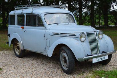 1957 RENAULT DAUPHINOISE  Châssis n° 3112723  Carte grise française Fabriquée...