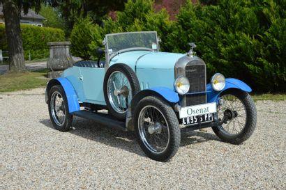 1922 AMILCAR CC  Châssis n° 868  Carte...