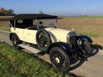 1924 UNIC TYPE L3 Châssis n° 37025 Carte grise française L'Unic présentée aujourd'hui...