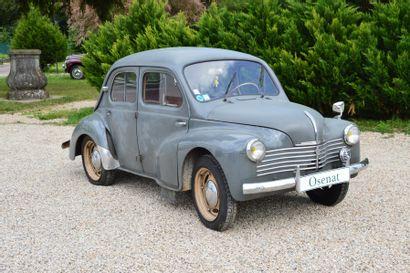 1950 RENAULT 4CV  Châssis n° 1685191  Carte...