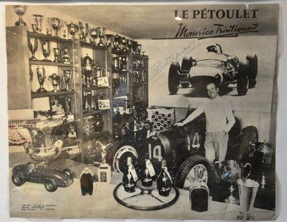 """""""Photos d'Ancêtres et de Pilotes"""" Landaulet limousine Darracq, tirage argentique..."""