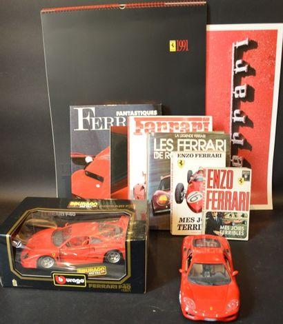 «Varia Ferrari »  Lot de sept ouvrages sur...