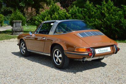 1970 PORSCHE 9112,2L S TARGA  Châssis n° 9111310200  Carte grise de collection...
