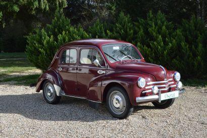 1958 RENAULT 4 CV Châssis n° 3159318 Carte...