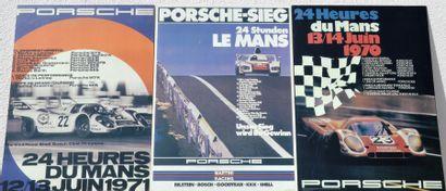 « Participations Porsche au Mans »  Trois...