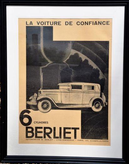 « Berliet »  Affiche en noir et blanc, promotionnelle...