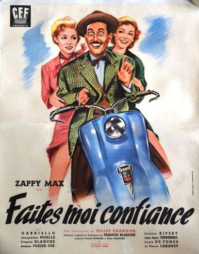 « Faites-moi Confiance » Scooter TERROT  Affiche du film de Gilles Grangier de 1953...