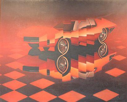 « Concept car Lamborghini » Huile sur toile...
