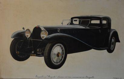 MURILLO « Bugatti Royale 41100 » Huile sur...