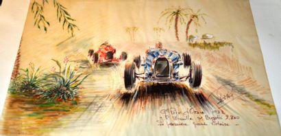 Rob ROY (Robert Le Proux de la Rivière, 1909-1992) « Grand Prix d'Oran 1932, J.P....