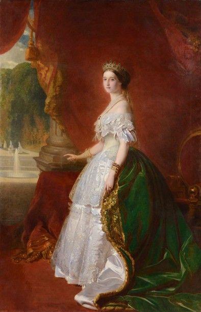 WINTERHALTER, d'après. Ecole française de la fin du XIXème siècle «L'Empereur Napoléon...