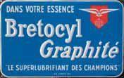 Plaque émaillée « Bretocyl », émaillerie...