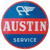 Plaque émaillée « Austin », émail Koek.,...