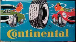 Plaque émaillée « Continental », Pyro-email...
