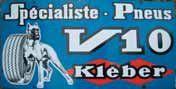Plaque « V10 Kléber », tôle peinte ; 100...