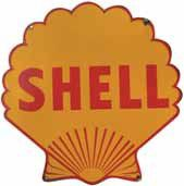 Plaque émaillée « Shell », double-face, SFFE...