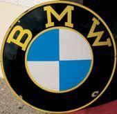 Plaque émaillée « BMW », Titan émail - Münchener-...