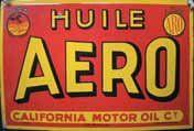 Plaque émaillée « Huile Aero », EAS l'émaillo...