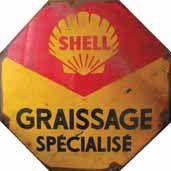 Plaque émaillée « Schell, graissage spécialisé...