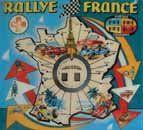 Plaque de verre « Rallye France »; 73 x 67...