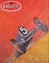 Illustration Bugatti par Roger Soubia encadrée...