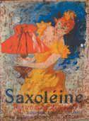 Affiche collée sur plaque « Saxoléine » ;...