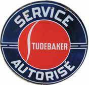 Plaque émaillée « Studebaker », émail Koekelberg...