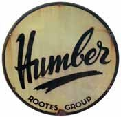 Plaque émaillée « Humber », émail Koekelbey...