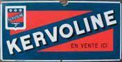 Plaque émaillée « Kervoline », émail ED Jean...