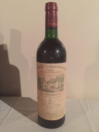 6 BLLE Château CARBONNIEUX (Graves) 1986...