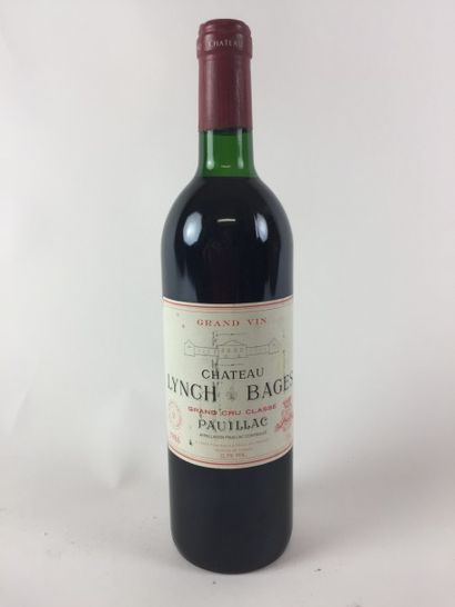 1 BLLE Château LYNCH BAGES (Pauillac) 1986...