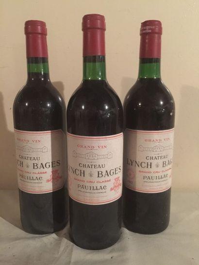 3 BLLE Château LYNCH BAGES (Pauillac) 1982...