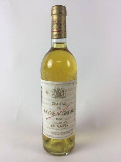 4 BLLE Château RAYNE VIGNEAU (Sauternes)...